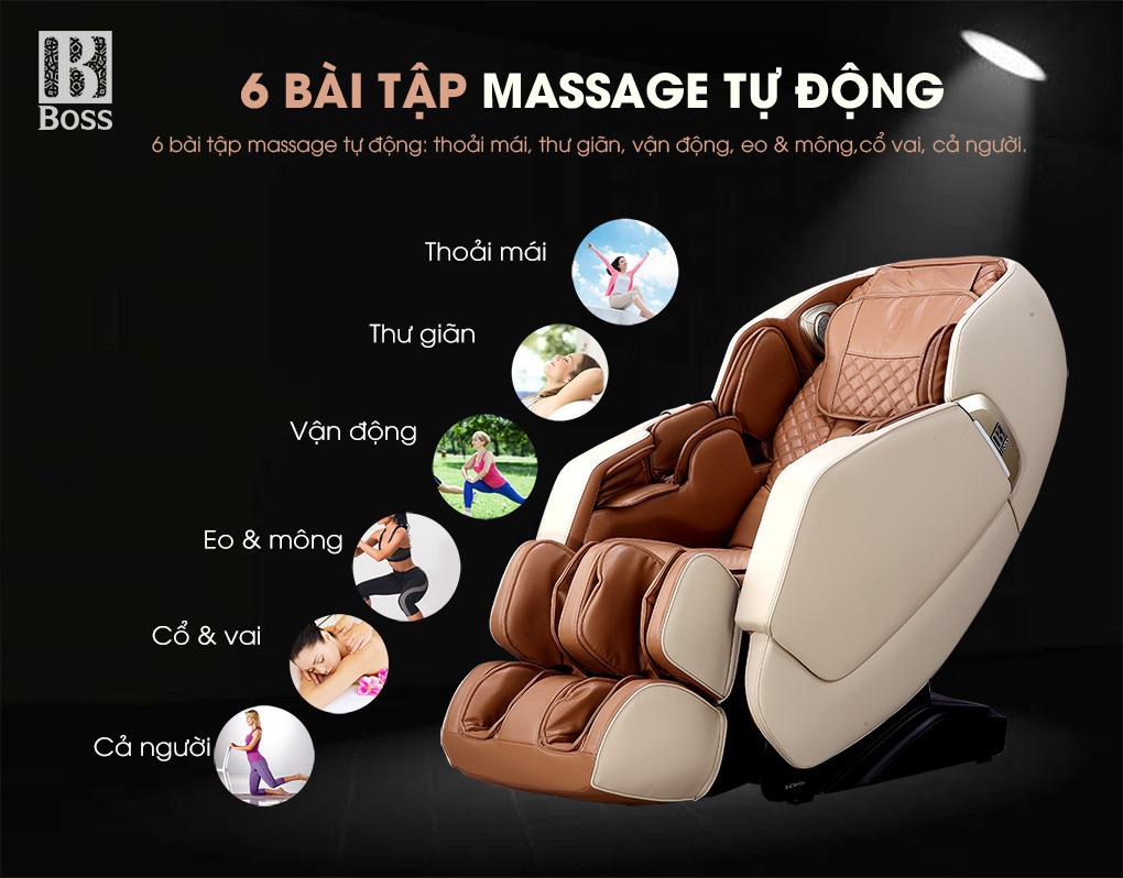 6 chế độ massage tự động cùng 5 chế độ massage khác nhau