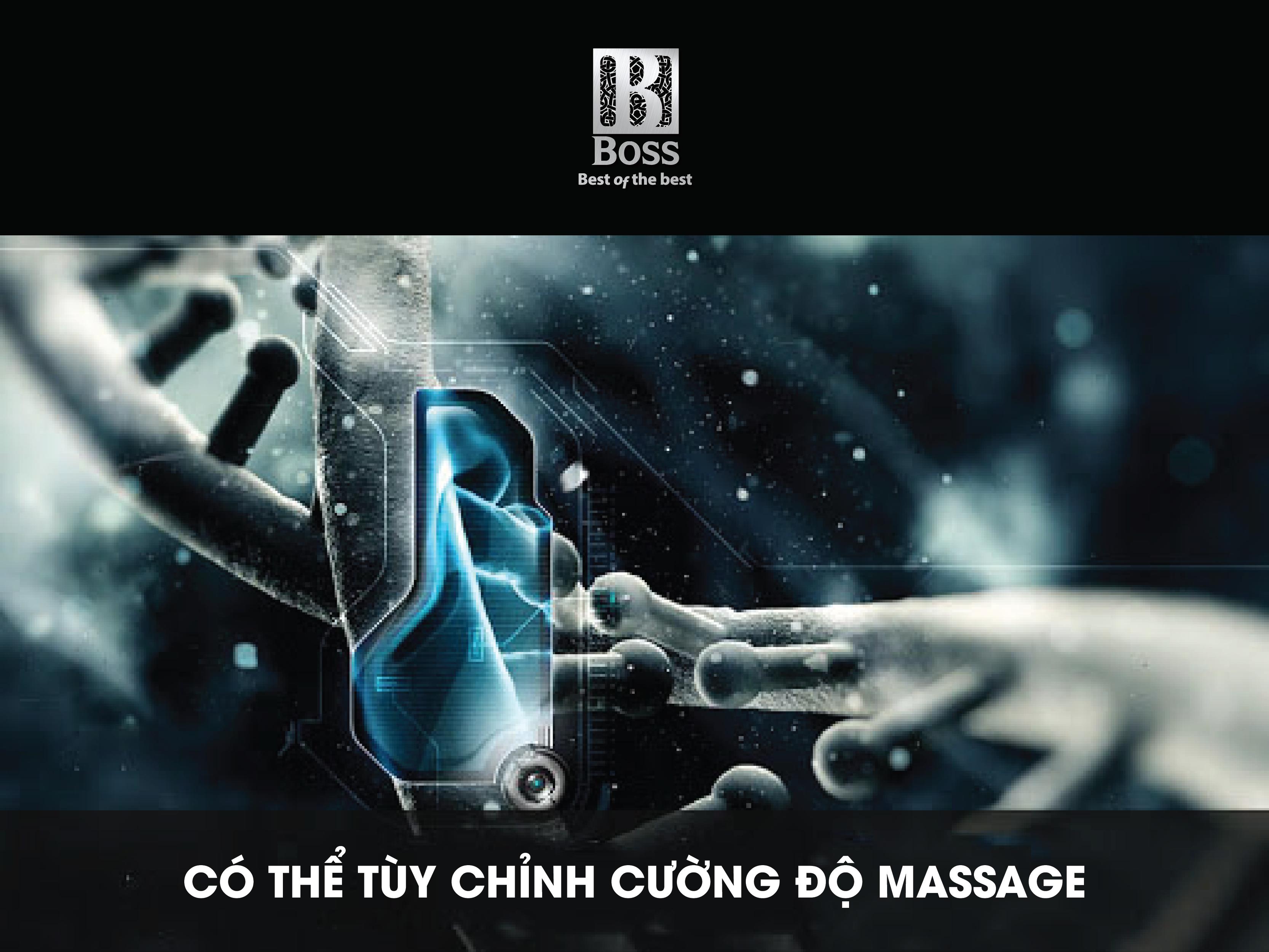 MCB-600 có thể tùy chỉnh đa dạng chế độ massage