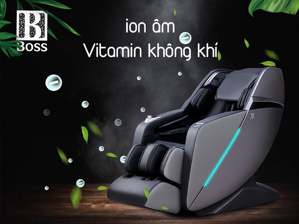 Ghế massage Boss MCB-803   Massage 4D cùng chế độ Zero Gravity tạo ra lượng ion âm lớn tăng cường sức đề kháng cho cơ thể