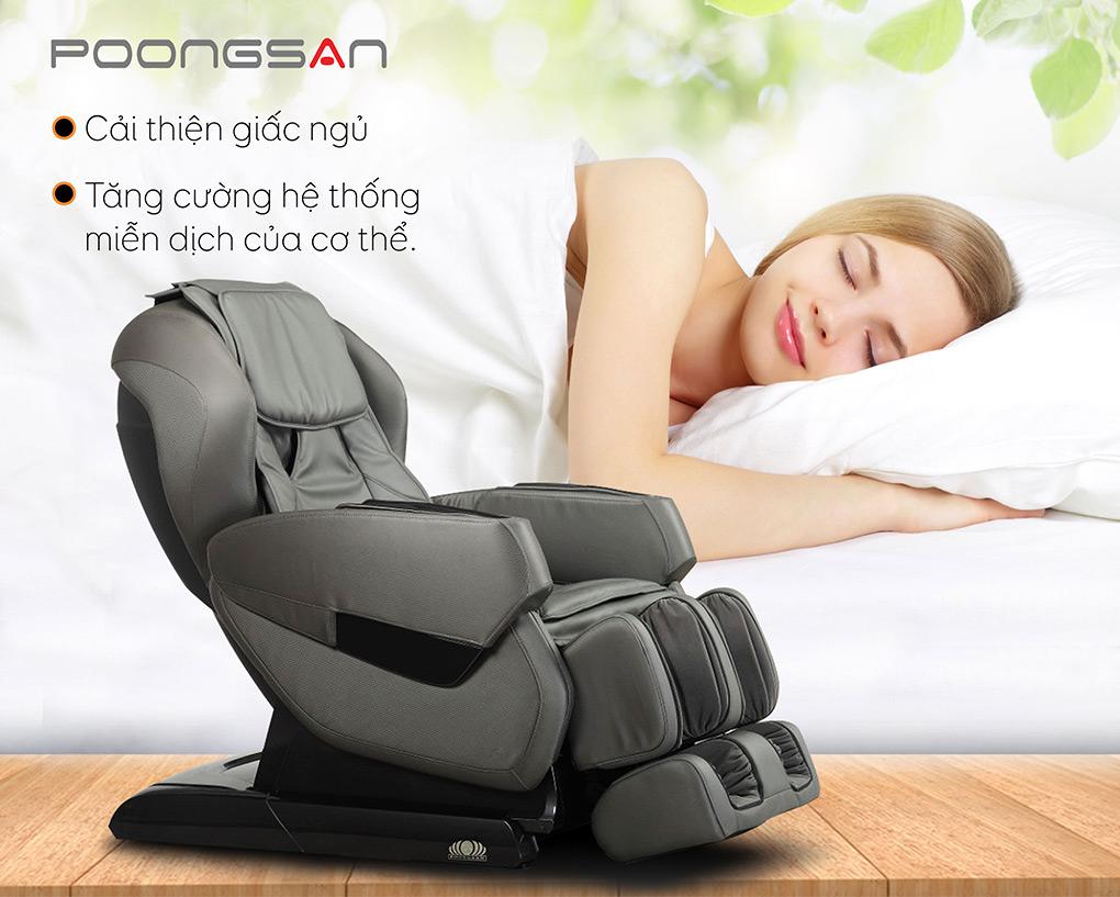 Massage với ghế MCP-200 giúp tăng cường miễn dịch, cải thiện giấc ngủ