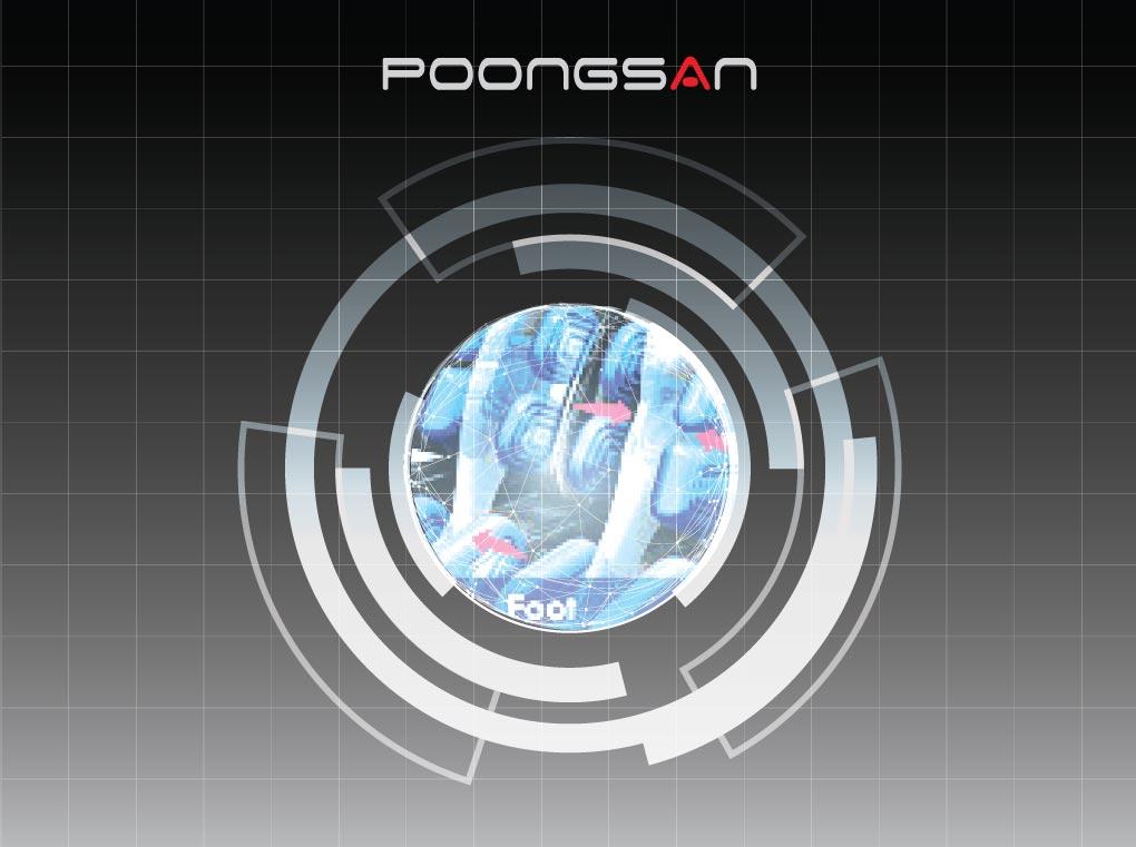 Chân Ghế massage Poongsan MCP-500 với chức năng massage con lăn ở giữa.