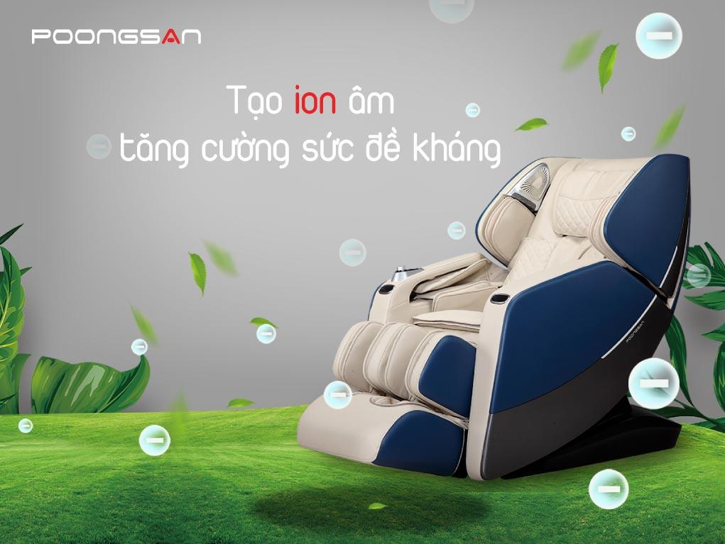 Ghế massage Poongsan MCP-801 - Tái tạo ion âm tăng cường sức khỏe
