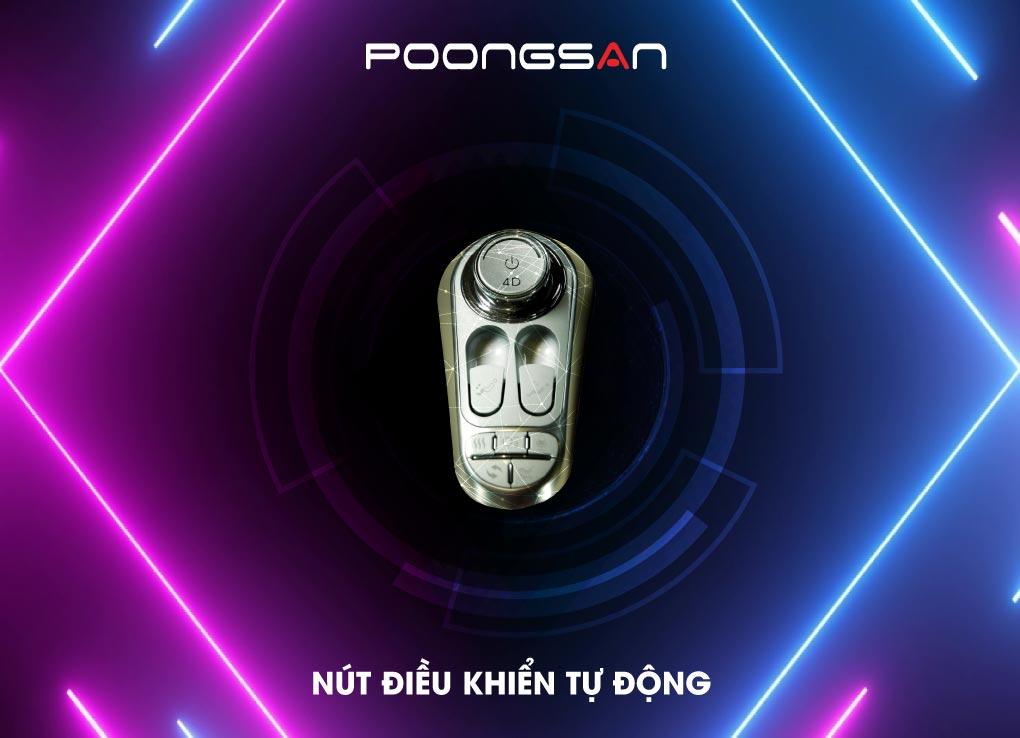 Tích hợp thêm nút điều khiển tự động chỉ có trên Ghế massage Poongsan MCP-801