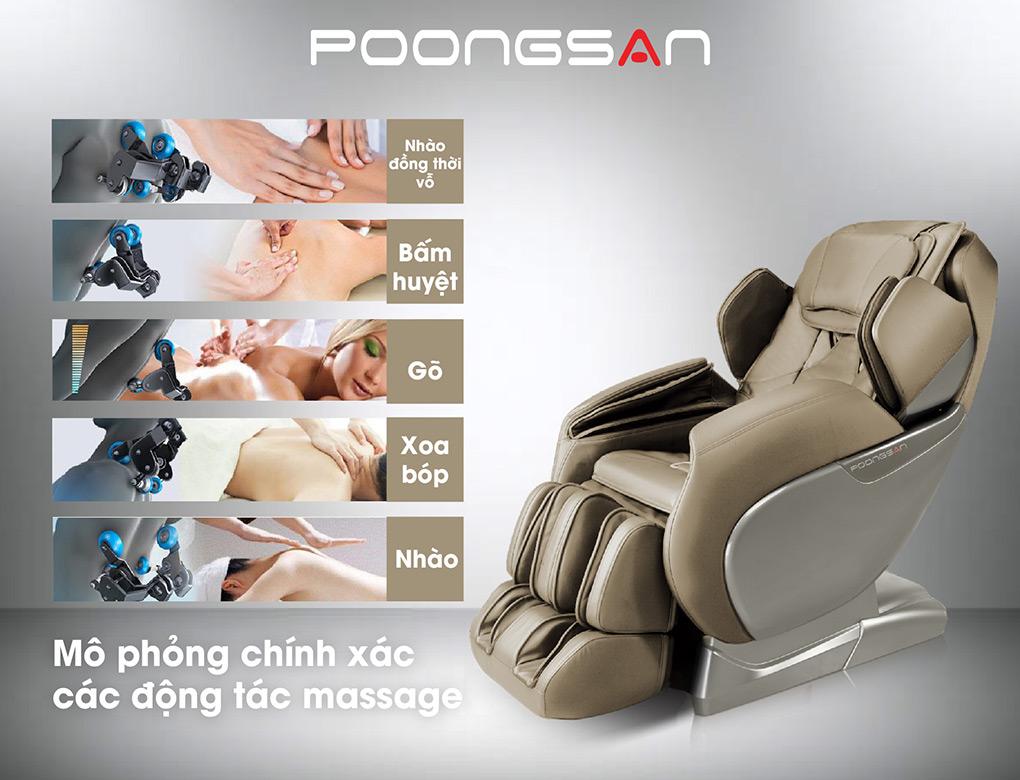 5 Thao tác massage được mô phỏng chân thực