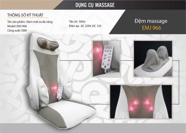Đệm massage toàn thân Boss EMJ-966