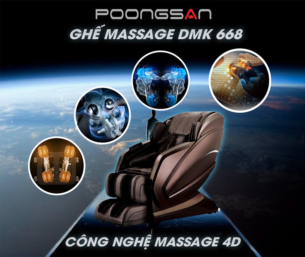 Tích hợp massage thông minh đa chiều 4D trên Ghế massage MCB-800