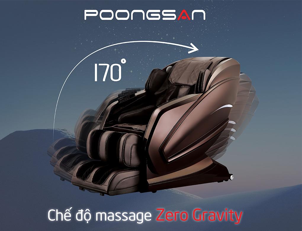 Ghế MCP-800 với chế độ massage Zero Gravity