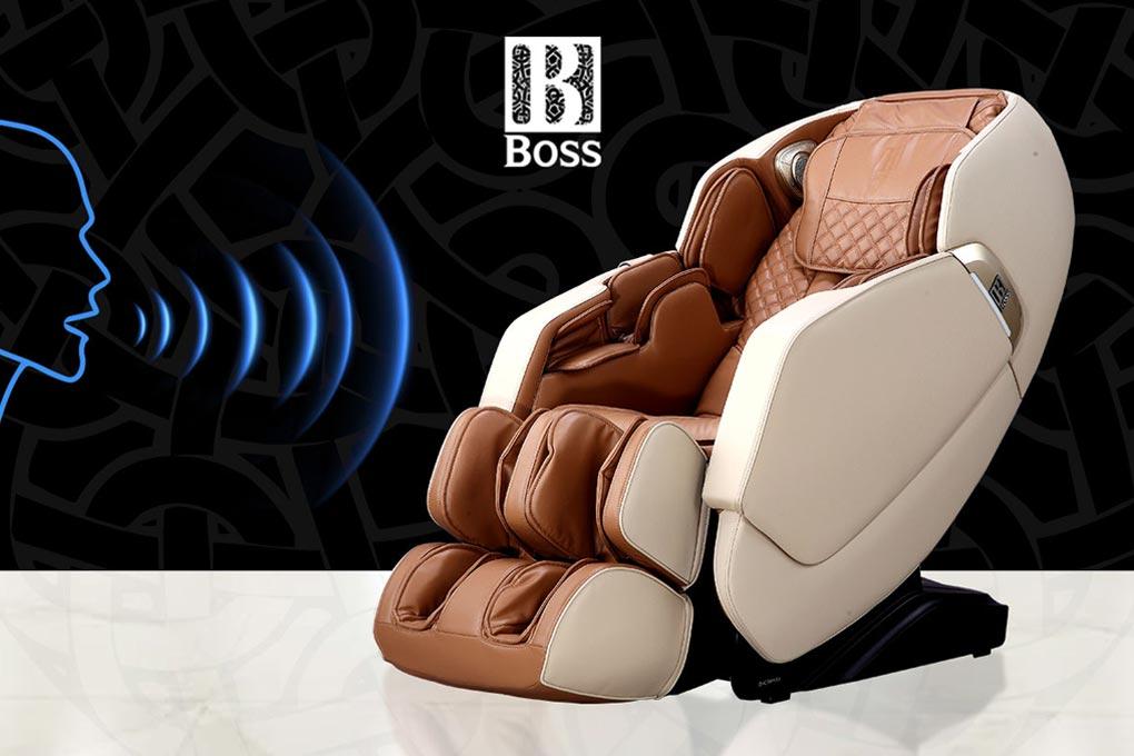 Ghế massage Boss MCB-300 và tính năng điều khiển bằng giọng nói.