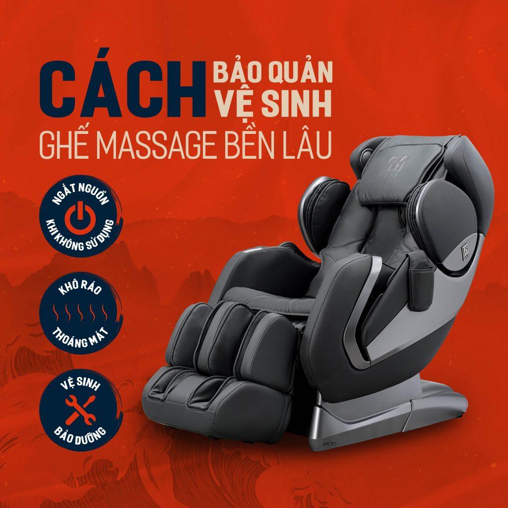 cách bảo quản vệ sinh ghế massage
