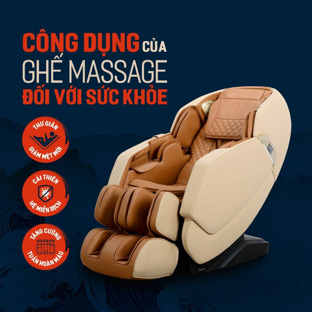 công dụng của ghế massage đối với sức khoẻ