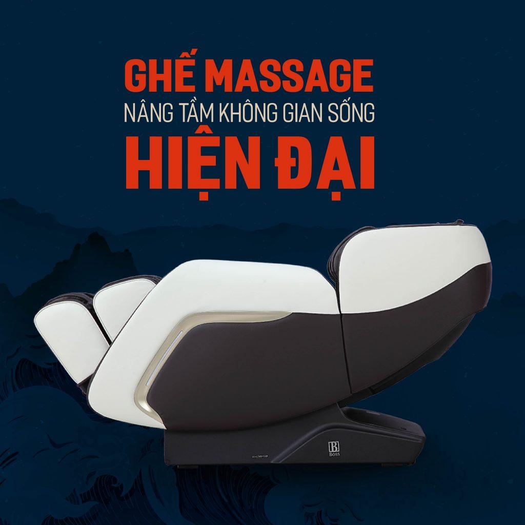 ghế massage nâng tầm không gian sống hiện đại