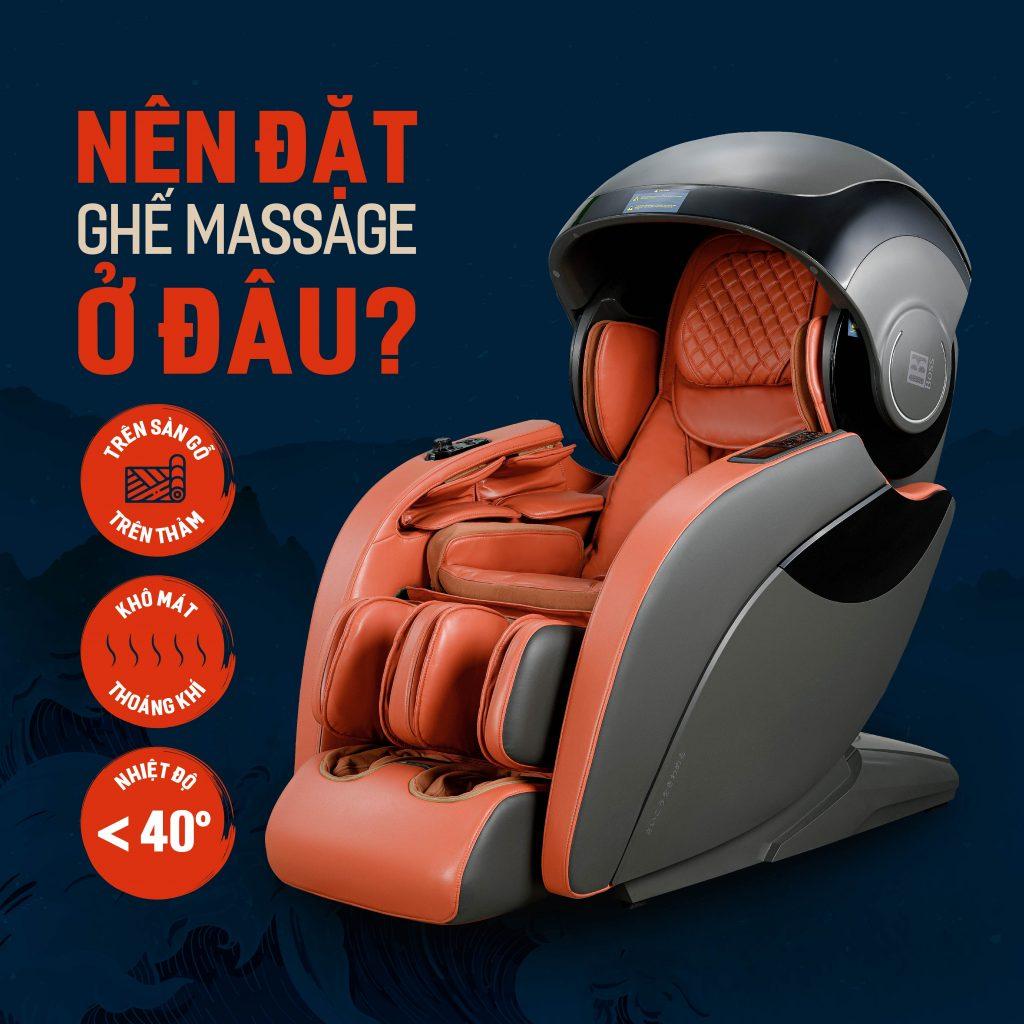 nên đặt ghế massage ở đâu