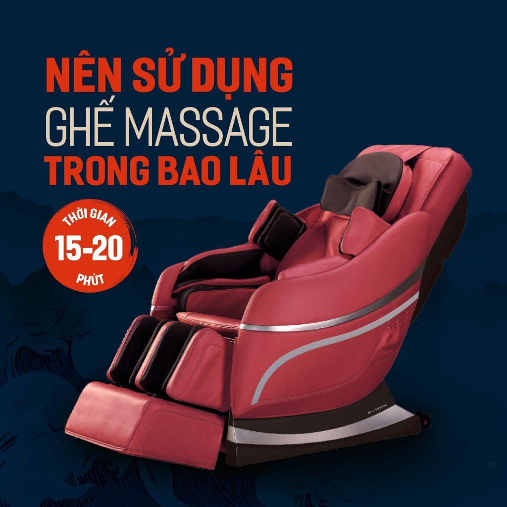 nên sử dụng ghế massage trong bao lâu