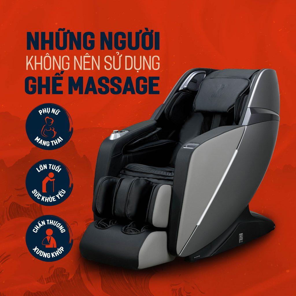 những người không nên sử dụng ghế massage