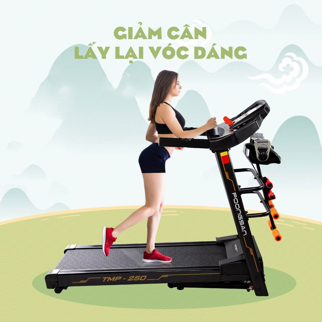 Giảm cân lấy lại vóc dáng nhờ máy chạy bộ