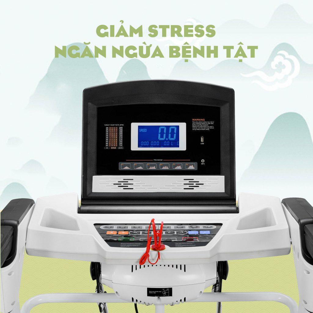 máy chạy bộ giảm stress ngăn ngừa bệnh tật