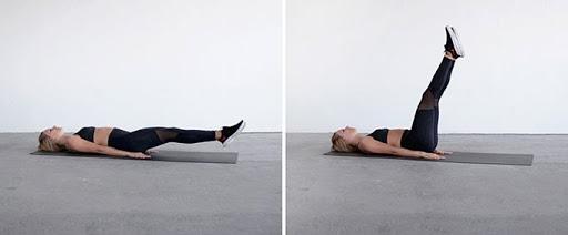 Bài tập nâng chân giúp tiêu hủy mỡ thừa hiệu quả