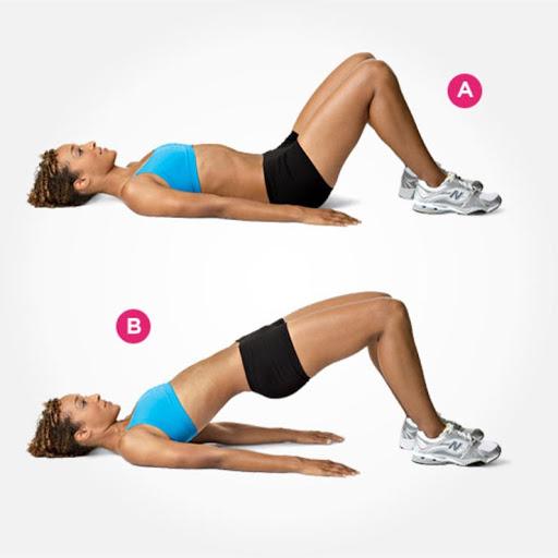 Các thao tác của bài tập nâng hông